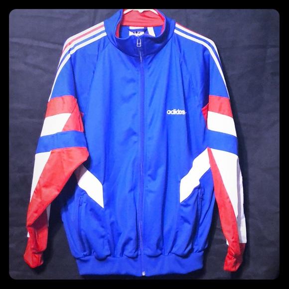 Adidas Jackets Coats Aloxe Red White Blue Track Jacket Nwot